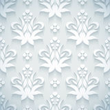 Embossed white seamless royal floral pattern Royalty Free Stock Photos