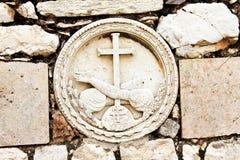 Embossment di pietra a Gethsemane immagini stock