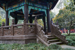 Embossments and sculptures of gazebo,China Royalty Free Stock Photography