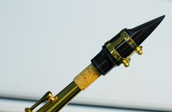 Embouchure de saxophone photographie stock libre de droits