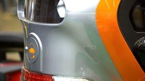 Embout avant de fin de voiture électrique, réservoir de chargeur, protection de l'environnement photographie stock libre de droits