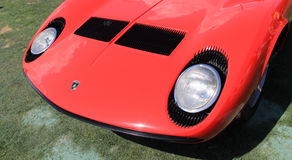 Embout avant de supercar de miura de Lamborghini Photo stock