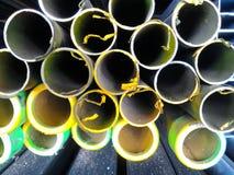 Embout de tuyau de tuyau d'acier photographie stock libre de droits