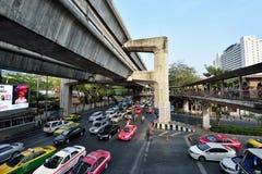 Embouteillage à Bangkok Photos stock