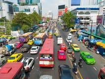 Embouteillage à Bangkok image libre de droits