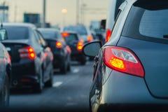 Embouteillage à Bangkok sur le chemin exprès Photographie stock libre de droits