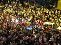 Embouteillage à Hanoï Vietnam Image stock