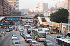 Embouteillage à Hong Kong Images libres de droits
