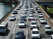 Embouteillage à Séoul photographie stock libre de droits