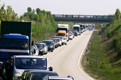 Embouteillage Photos libres de droits