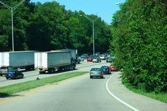 Embouteillage 3 photos libres de droits
