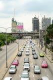 Embouteillage à Bangkok Photographie stock libre de droits