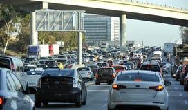 Embouteillage d'heure de pointe de ville Photo libre de droits
