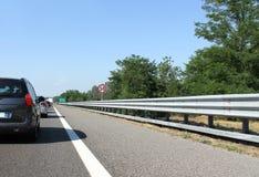 Embouteillage dans la route Images libres de droits