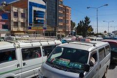 Embouteillage dans les rues de La Paz, Bolivie Images libres de droits