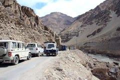 Embouteillage dans Mountain-1. Photo stock