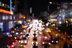 Embouteillage de nuit de Bangkok Photographie stock libre de droits