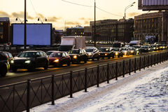 Embouteillage des voitures photo libre de droits
