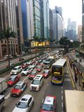 Embouteillage en Hong Kong Island Photos stock