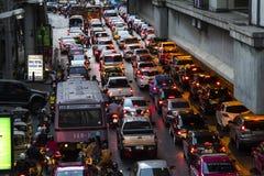 Embouteillage pendant l'après-midi, Bangkok image libre de droits