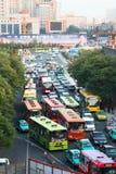 Embouteillage à Xi'an, Chine Images libres de droits