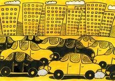 Embouteillages illustration libre de droits