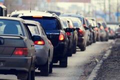 Embouteillages dans la ville, route, heure de pointe Photographie stock