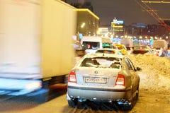 Embouteillages de Multikilometer sur des routes Photos libres de droits