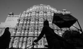 Embouteillages en Hawa Mahal, Jaipur photos libres de droits