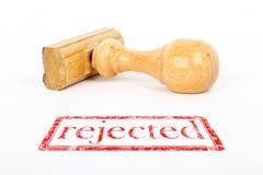 Embouti comme rejeté Image libre de droits
