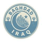 Emboutissez ou emblème avec le texte Bagdad, Irak à l'intérieur illustration stock