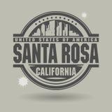 Emboutissez ou label avec le texte Santa Rosa, la Californie à l'intérieur illustration stock