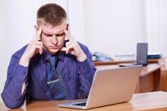 Embployee infeliz Foto de archivo libre de regalías