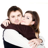 Embrace. Stock photo: an image of a tight embrace of a young couple Royalty Free Stock Photography
