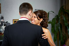 Embrace bride and groom Royalty Free Stock Photography