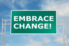 Embrace Change! concept Royalty Free Stock Photos