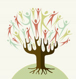Embrace diversity tree set Royalty Free Stock Photography