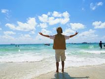 Embrace the sea stock photography
