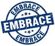 Embrace stamp. Embrace grunge vintage stamp isolated on white background. embrace. sign royalty free illustration