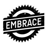 Embrace stamp rubber grunge Stock Photos