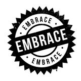 Embrace stamp rubber grunge Stock Photography