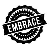 Embrace stamp rubber grunge Stock Image