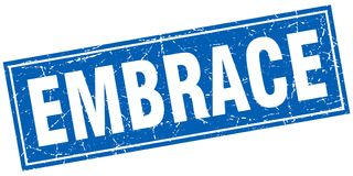 Embrace stamp. Embrace square grunge stamp. embrace sign. embrace stock illustration