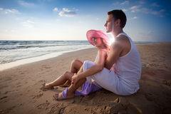 Embrace of two lovers Stock Photography