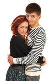 Embraced happy couple Stock Image