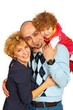 Embraced happy family Royalty Free Stock Photos