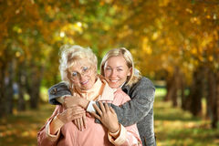 Embraces of mum and the daughter Royalty Free Stock Image