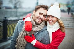 Embracing boyfriend Stock Photography