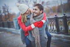Embracing boyfriend Royalty Free Stock Photography