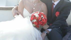 Embracing Bride stock video footage